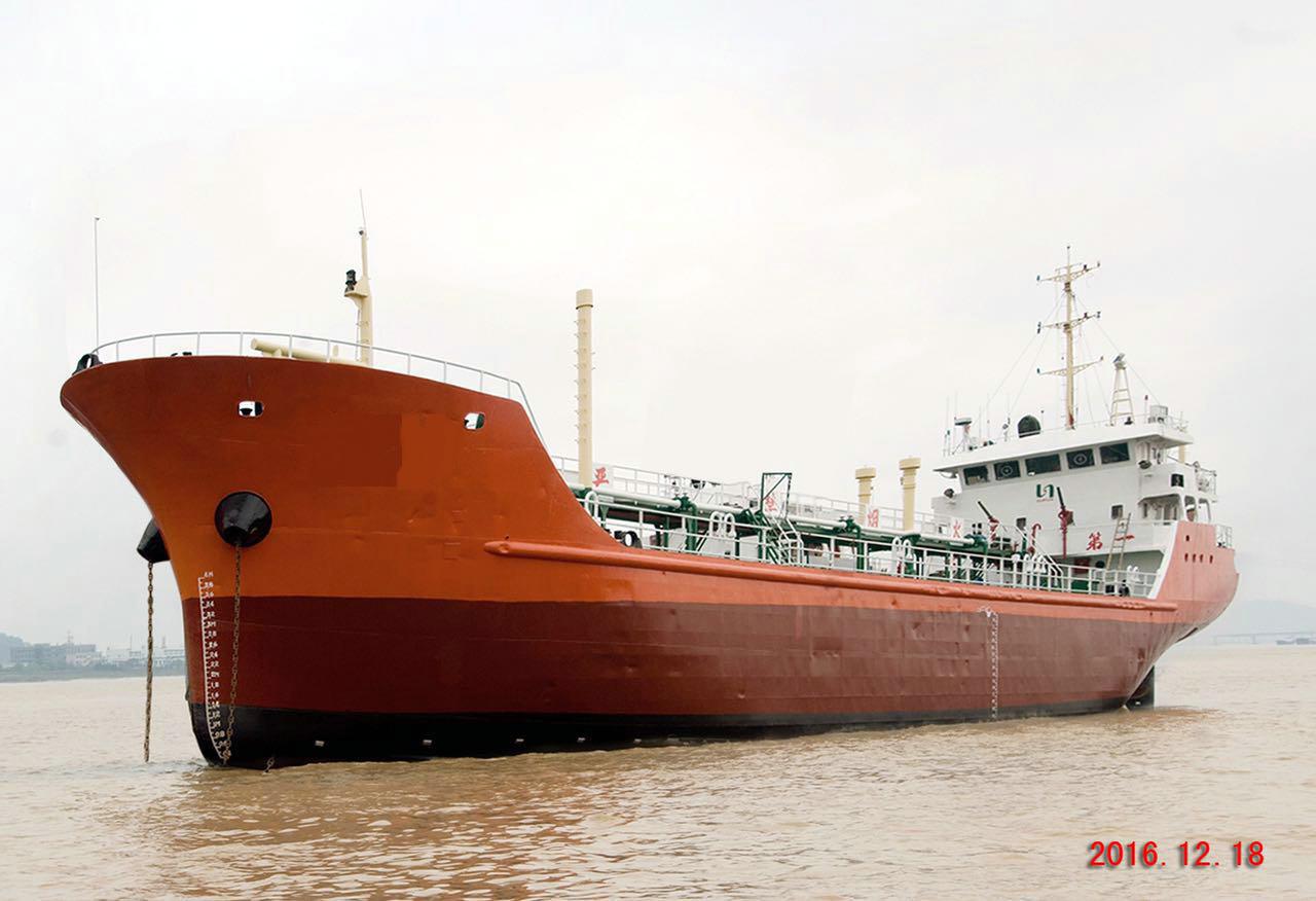 售2007年1000T沿海化学品船