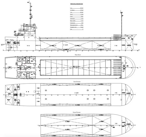 64米干货船