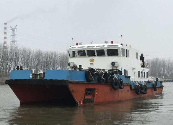 低价出售2017年造26.8米近海双体交通船