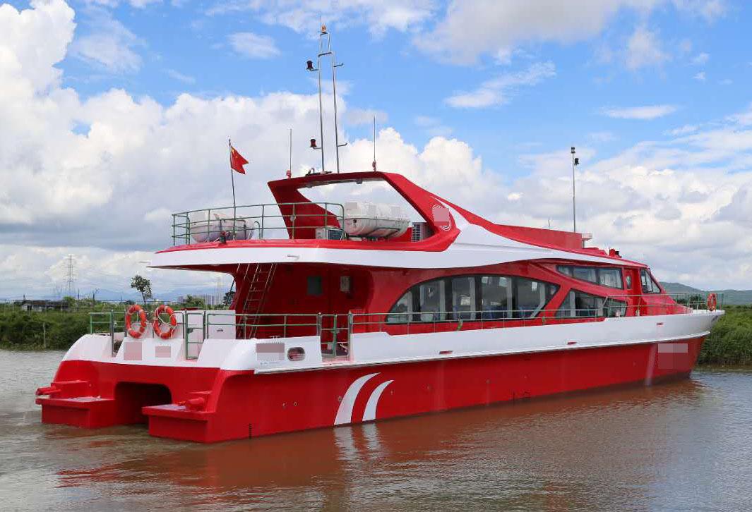 15年双体高速客轮出售,可做工程接待船舶,航速18节